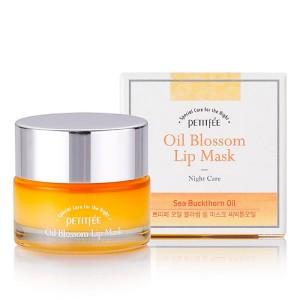 Маска для губ с маслом облепихи PETITFEE Oil Blossom Lip Mask Sea Buckthorn - 15g