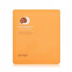 Гидрогелевая маска с золотом и улиточным муцином PETITFEE Gold and Snail Hydrogel Mask Pack - 30g