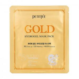 Гидрогелевая маска с золотом для лица PETITFEE Gold Hydrogel Mask Pack - 30g