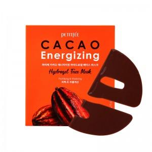 Тонизирующая гидрогелевая маска для лица с какао PETITFEE Cacao Energizing Hydrogel Face Mask 32 гр