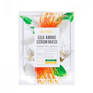 Тканевая маска с протеинами шелка PETITFEE Silk Amino Serum Mask - 30 мл