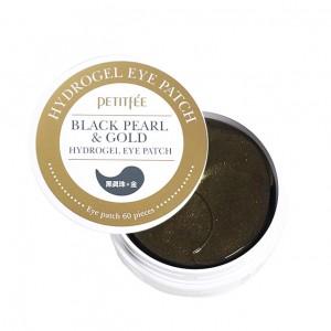 Гидрогелевые патчи для глаз с жемчугом и золотом PETITFEE Black Pearl and Gold  - 60 шт
