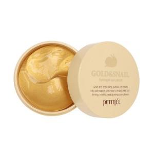 Гидрогелевые патчи для глаз с золотом и улиточным муцином PETITFEE Gold and Snail - 60 шт