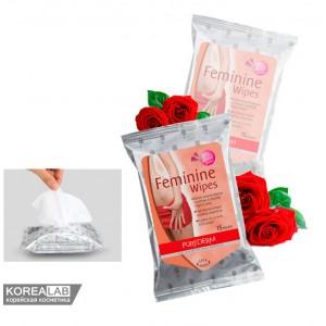 Салфетки для интимной гигиены PUREDERM Feminine Wipes - 15 шт.