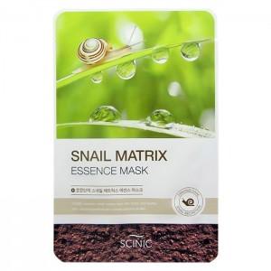 Тканевая маска для лица с улиточным муцином SCINIC Snail Matrix Essence Mask - 20ml
