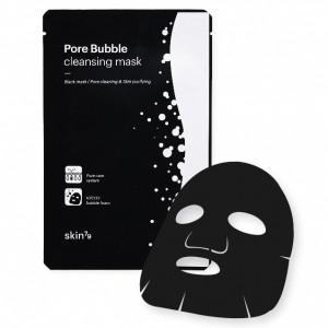 Кислородная тканевая маска для лица (черный войлок) SKIN79 Pore Bubble Cleansing Mask - 23ml