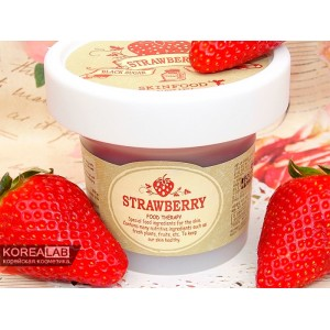 Маска-скраб для лица с клубникой SKINFOOD Black Sugar Strawberry Mask Wash Off - 100ml