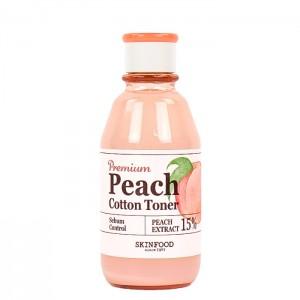Тонер для лица с контролем жирности SKINFOOD Premium Peach Cotton Toner - 175ml