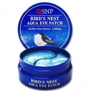 Патчи для век с экстрактом ласточкиного гнезда SNP Bird's Nest Aqua Eye Patch
