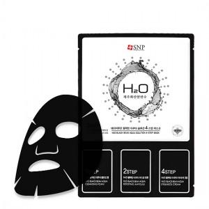 Четырехступенчатая маска для глубокого увлажнения SNP H2O Blackbean Aqua Solution 4-Step Mask