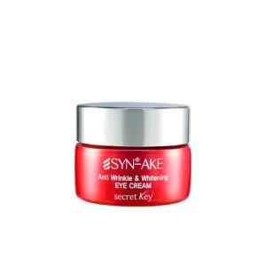 Антивозрастной крем для век со змеиным пептидом SECRET KEY Syn-Ake Anti Wrinkle and Whitening Eye Cream - 15 гр