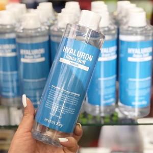 Тонер для лица с отшелушивающим эффектом SECRET KEY Hyaluron Aqua Soft Toner - 500 мл