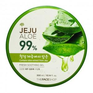 Успокаивающий алоэ гель для лица и тела THE FACE SHOP Jeju Aloe Fresh Soothing Gel - 300ml