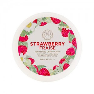 Крем для рук и тела с клубникой THE FACE SHOP Hand & Body Shiffon Cream Strawberry - 100ml