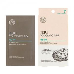 Очищающие пластыри для носа с алоэ THE FACE SHOP Jeju Volcanic Lava Aloe Nose Strips