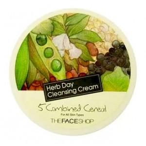 Очищающий крем - пять злаков THE FACE SHOP Herb Day 365 Cleansing Cream Five Grain - 150ml