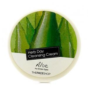 Очищающий крем с экстрактом алоэ THE FACE SHOP Herb Day 365 Cleansing Cream Aloe - 150ml