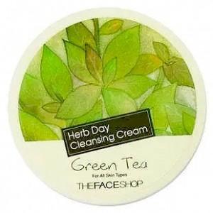 Очищающий крем с зеленым чаем THE FACE SHOP Herb Day 365 Cleansing Cream Green Tea - 150ml