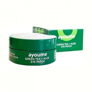 Патчи для глаз от отечности с зеленым чаем и алоэ AYOUME Green Tea + Aloe Eye Patch - 60 шт