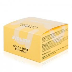 Патчи для глаз с золотом и улиточным муцином AYOUME Gold + Snail Eye Patch - 60 шт