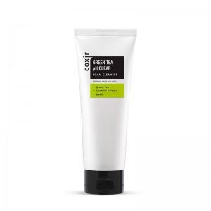 Пенка для умывания с зеленым чаем COXIR Green Tea pH Clear Foam Cleanser - 150 мл