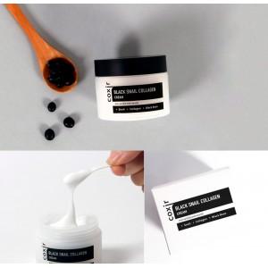 Антивозрастной питательный крем с муцином улитки COXIR Black Snail Collagen Cream - 50 мл
