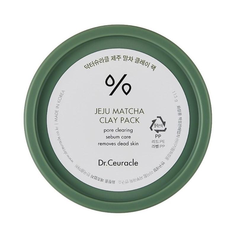 Очищающая глиняная маска с матчей DR.CEURACLE Jeju Matcha Clay Pack 115 гр