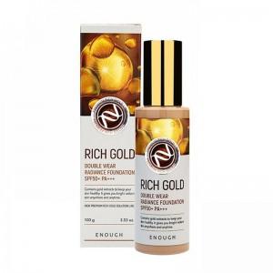 Тональная основа с золотом ENOUGH Rich Gold Double Wear Radiance Foundation SPF50+ PA+++ 100 гр