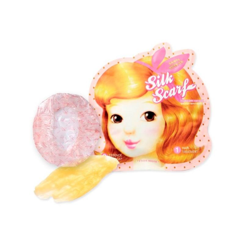 Восстанавливающая маска для волос ETUDE HOUSE Silk Scarf Double Care Hair Mask - 15мл+5мл