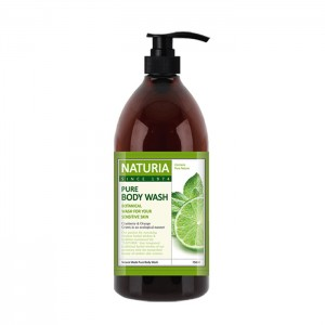 Гель для душа с лаймом EVAS Naturia Pure Body Wash Wild Mint and Lime - 100/750 мл