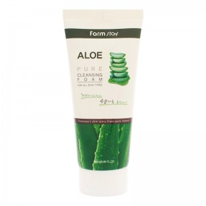 Пенка для лица FARMSTAY Aloe Pure Cleansing Foam 180мл
