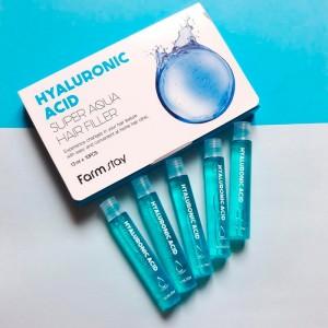 Суперувлажняющий филлер с гиалуроновой кислотой для волос FARMSTAY Hyaluronic Acid Super Aqua Hair Filler 13мл