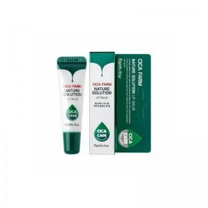 Бальзам для губ с центеллой азиатской FARMSTAY Cica Farm Nature Solution Lip Balm 10 гр