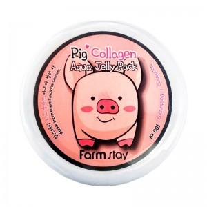 Увлажняющая маска-желе со свиным коллагеном FARMSTAY Collagen Aqua Piggy Jelly Pack 100мл