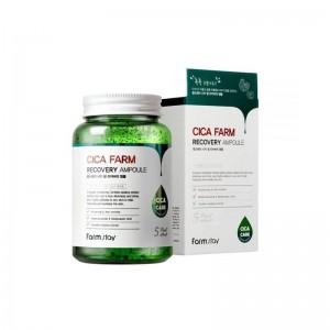 Сыворотка с центеллой азиатской FARMSTAY Cica Farm Recovery Ampoule 250 мл