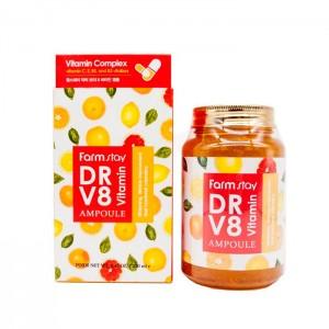 Витаминная сыворотка для лица FARMSTAY DR V8 Vitamin Ampoule - 250 мл