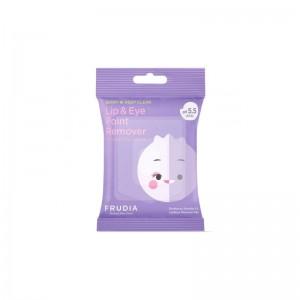Мицеллярные диски для снятия стойкого макияжа с глаз и губ FRUDIA Lip Eye Point Remover 30 шт