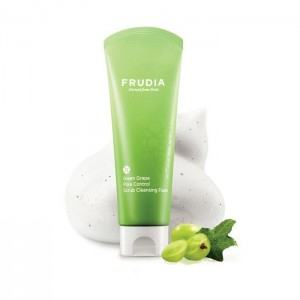Себорегулирующая пенка-скраб FRUDIA Green Grape Pore Control Scrub Cleansing Foam - 145 мл