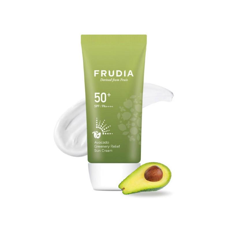 Солнцезащитный крем с авокадо FRUDIA Avocado Greenery Relief Sun Cream SPF50+ PA++++ - 50мл