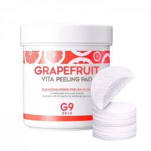 Пилинг-пэды для лица с грейпфрутом G9SKIN Grapefruit Vita Peeling Pad - 100 шт