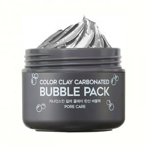 Кислородная очищающая маска G9SKIN Color Clay Carbonated Bubble Pack - 100 мл