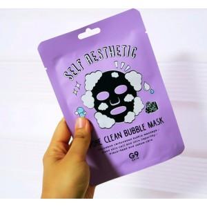 Маска для лица тканевая пузырьковая G9SKIN Self Aesthetic Poreclean Bubble mask - 23мл