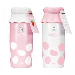 Пузырьковая маска с молочными протеинами G9SKIN Milk Bubble Essence Pack 50 мл