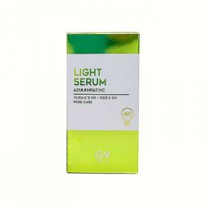 Сыворотка для контроля жирности и сужения пор G9SKIN Light Serum Azulene and Zinc - 50 мл