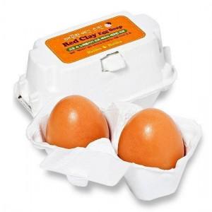 Мыло-маска для умывания с красной глиной Holika Holika Egg Soap Red Clay - 50g*2