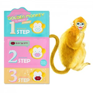 Трехступенчатый набор для губ Holika Holika Golden Monkey Glamour Lip 3-Step Kit - 6,5g