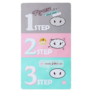 Трехступенчатые патчи для носа Holika Holika Pig-nose Clear Black Head 3-step Kit - 7g