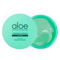 Успокаивающие гидрогелевые патчи с алоэ для век HOLIKA HOLIKA Aloe Soothing Essence 80% Hydrogel Eye Patch Calming - 60 шт