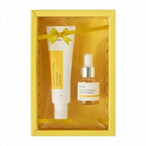 Витаминный набор с прополисом сыворотка и крем для век iUNIK Propolis Vitamin Eye Cream Set