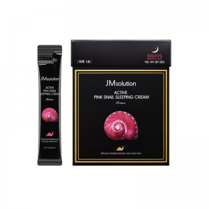 Ночной крем с муцином улитки JMSolution Active Pink Snail Sleeping Cream 4 мл